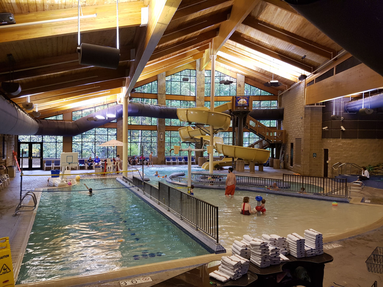 Indoor aquatic center at Abe Martin Lodge