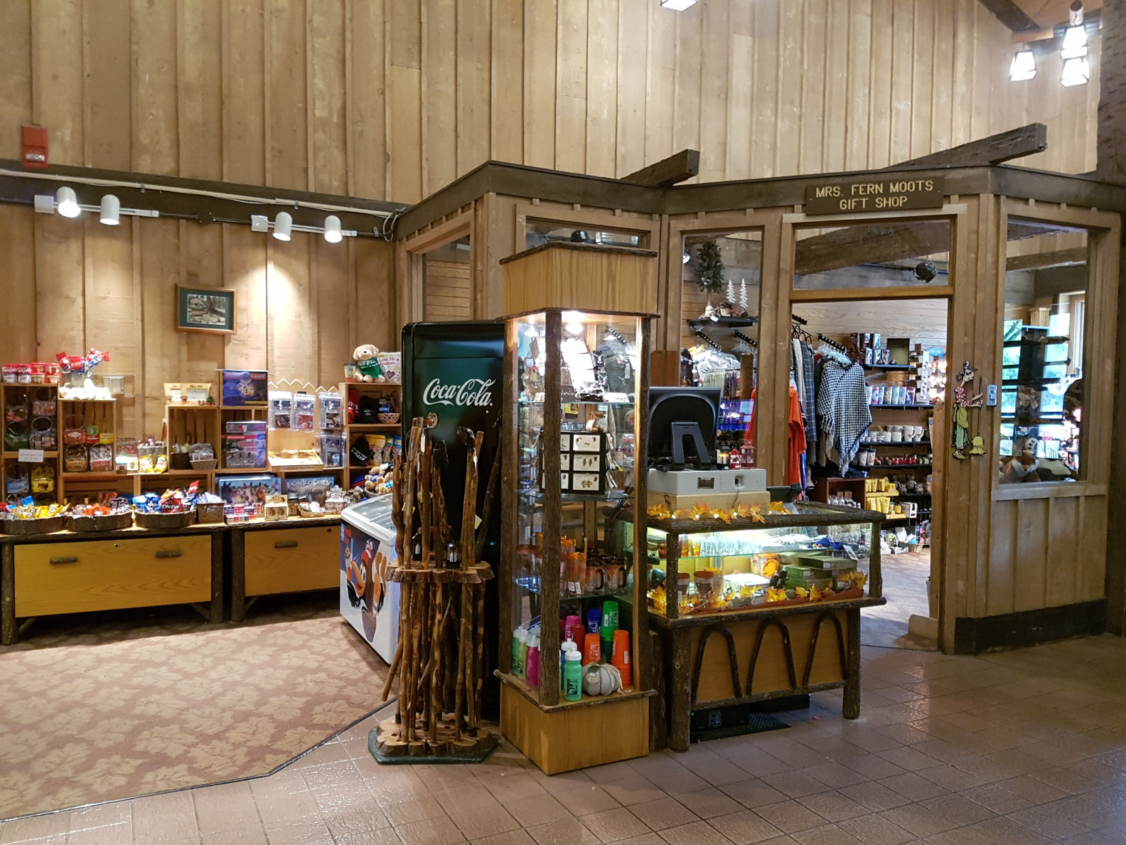 Gift shop at Abe Martin Lodge