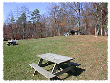 Picnic Area with Shelter at Ogle Lake